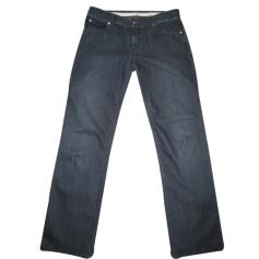 Jeans droit ARMANI COLLEZIONI Bleu, bleu marine, bleu turquoise
