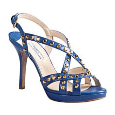 Sandales à talons PRADA Bleu, bleu marine, bleu turquoise