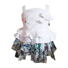 Top, T-shirt ROBERTO CAVALLI JUNIOR Bianco, bianco sporco, ecru