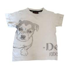 T-Shirts ROBERTO CAVALLI JUNIOR Weiß, elfenbeinfarben