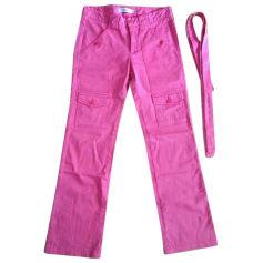 Straight Leg Pants COMPTOIR DES COTONNIERS Pink, fuchsia, light pink