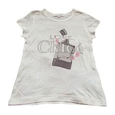 Top, T-shirt CHLOÉ White, off-white, ecru