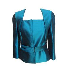 Blazer, veste tailleur AZZARO Bleu, bleu marine, bleu turquoise