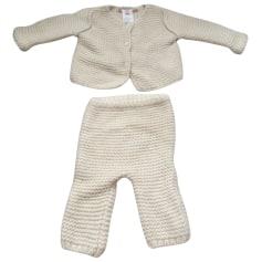Pants Set, Outfit BONPOINT White, off-white, ecru