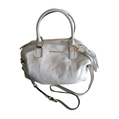 Leather Handbag MICHAEL KORS White, off-white, ecru