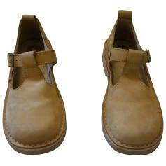 Chaussures à boucle KICKERS Beige, camel