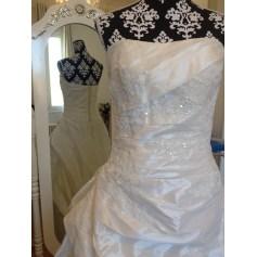 Robe de mariée ATELIER DIAGONAL Blanc, blanc cassé, écru