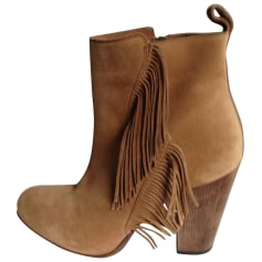 Santiags, bottines, low boots cowboy SARTORE Beige, camel