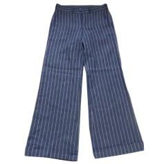 Pantalone largo RALPH LAUREN Blu, blu navy, turchese