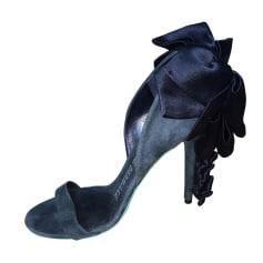 Escarpins à bouts ouverts ALEXIS MABILLE Bleu, bleu marine, bleu turquoise