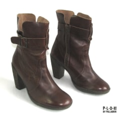 Bottines & low boots à talons PALLADIUM Marron