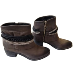 Cowboy Ankle Boots JB MARTIN Gray, charcoal