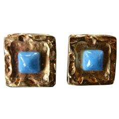 Boucles d'oreille ARTHUS BERTRAND Bleu, bleu marine, bleu turquoise