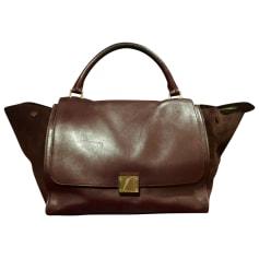 Leather Handbag CÉLINE Red, burgundy