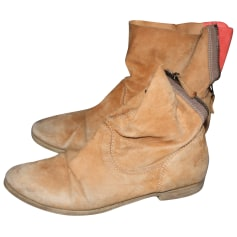 Bottines & low boots plates MINELLI Beige, camel