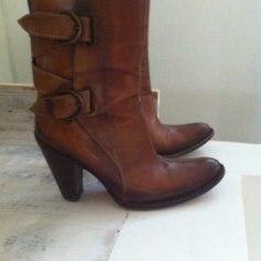 Bottines & low boots à talons SAN MARINA camel et cognac