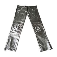 Skinny Pants, Cigarette Pants ISABEL MARANT Silver
