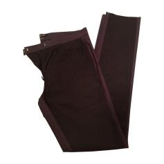 Pantalon slim, cigarette ISABEL MARANT Noir