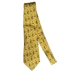 Cravate HERMÈS Jaune