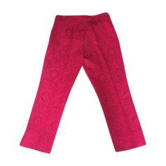 Pantalone slim, a sigaretta DOLCE & GABBANA Rosso, bordeaux