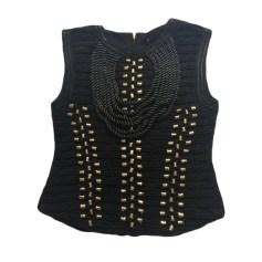 Top, tee-shirt BALMAIN X H&M Noir