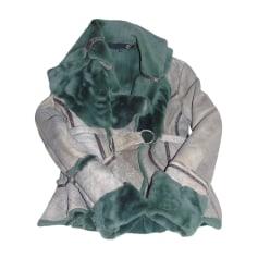 Leather Jacket JUST CAVALLI Khaki