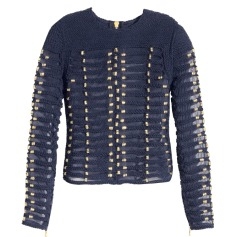 Top, tee-shirt BALMAIN X H&M Bleu, bleu marine, bleu turquoise