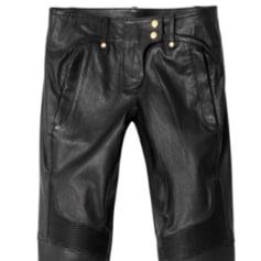 Pantalon slim, cigarette BALMAIN X H&M Noir