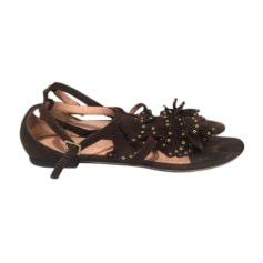 Sandales plates  ALEXANDRA NEEL Marron