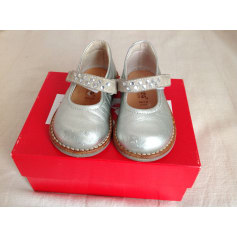 Velcro Shoes KICKERS Silver