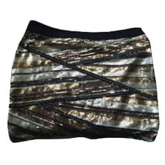 Mini Skirt MAJE Golden, bronze, copper