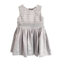 Robe PAUL SMITH JUNIOR Argenté, gris satiné