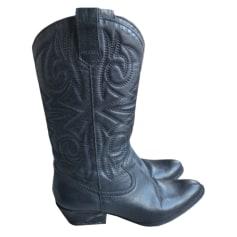 Santiags, bottes cowboy MINELLI Noir