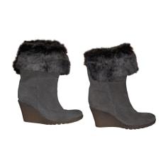 Bottines & low boots à compensés ANN TUIL Beige, camel