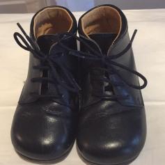 Chaussures à scratch FROMENT-LEROYER cuir bleu 27 JjGAUccQ