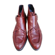 Bottines & low boots plates ALEXANDER WANG Marron