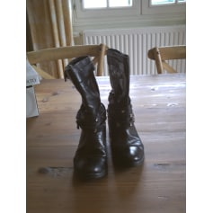 Bottines & low boots motards REMINISCENCE Noir