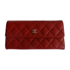 Wallet CHANEL Red, burgundy