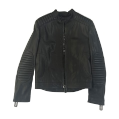 Leather Zipped Jacket Philipp Plein
