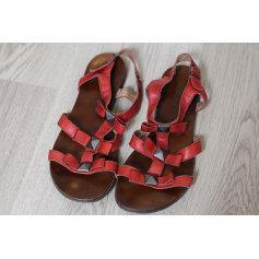 Sandales plates  ADDICT INITIAL Rouge, bordeaux