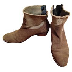 Bottines & low boots plates ZADIG & VOLTAIRE Beige, camel