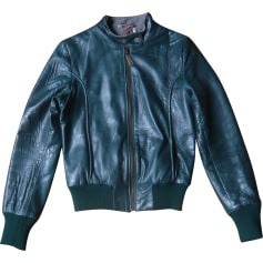 Leather Zipped Jacket DOMA Green