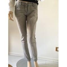 Jeans slim PATRIZIA PEPE Gris, anthracite