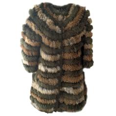 Cappotto in pelliccia MANOUSH Beige et kaki
