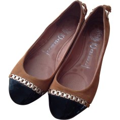 Ballerinas JEFFREY CAMPBELL Brown and black
