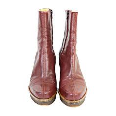 Bottines & low boots à compensés ROBERT CLERGERIE bordeaux brun
