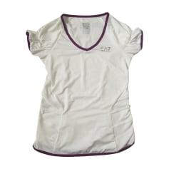 Top, tee-shirt ARMANI EA7 Blanc, blanc cassé, écru
