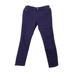 Pantalon droit GUCCI Bleu, bleu marine, bleu turquoise