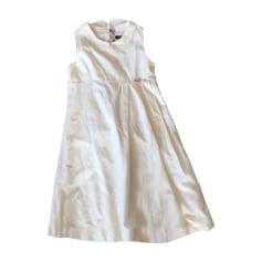 Dress BURBERRY White, off-white, ecru