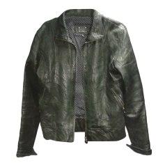 Leather Zipped Jacket LE TEMPS DES CERISES Black